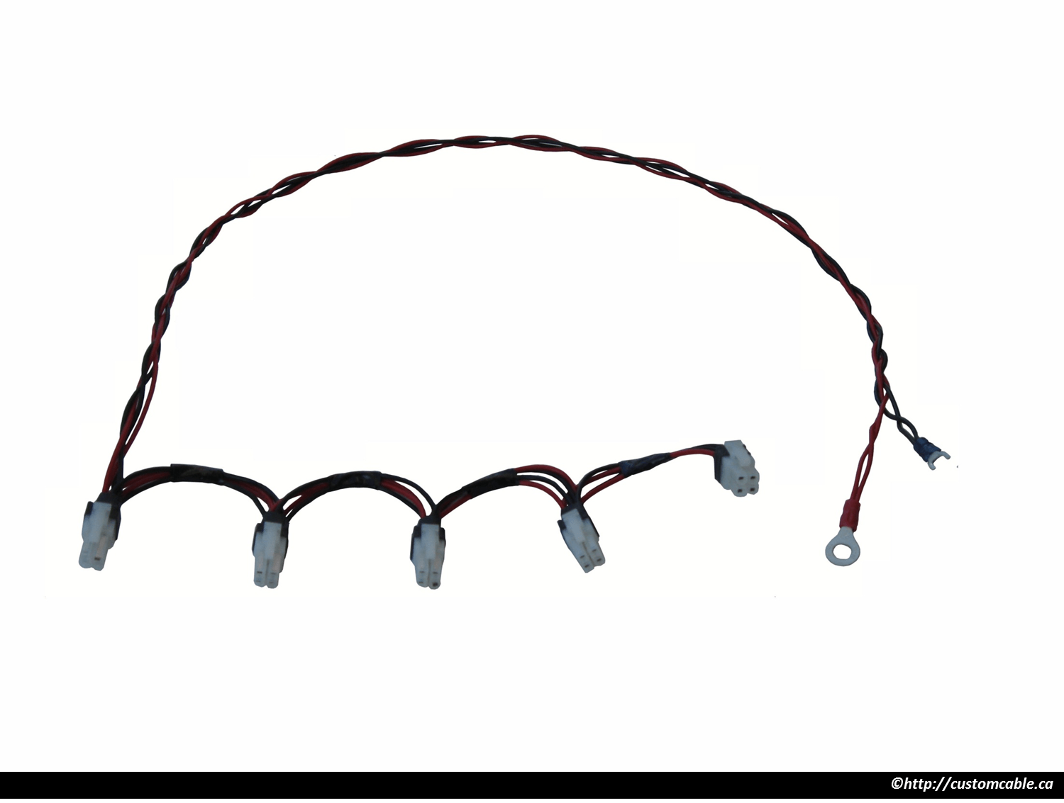 Custom Wiring Harness Customcable Wire Terminals Low Profile Connector Cable Assemblies With Fly Wires